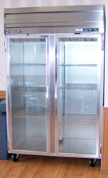 Upright store and restaurant storage coolers and freezers